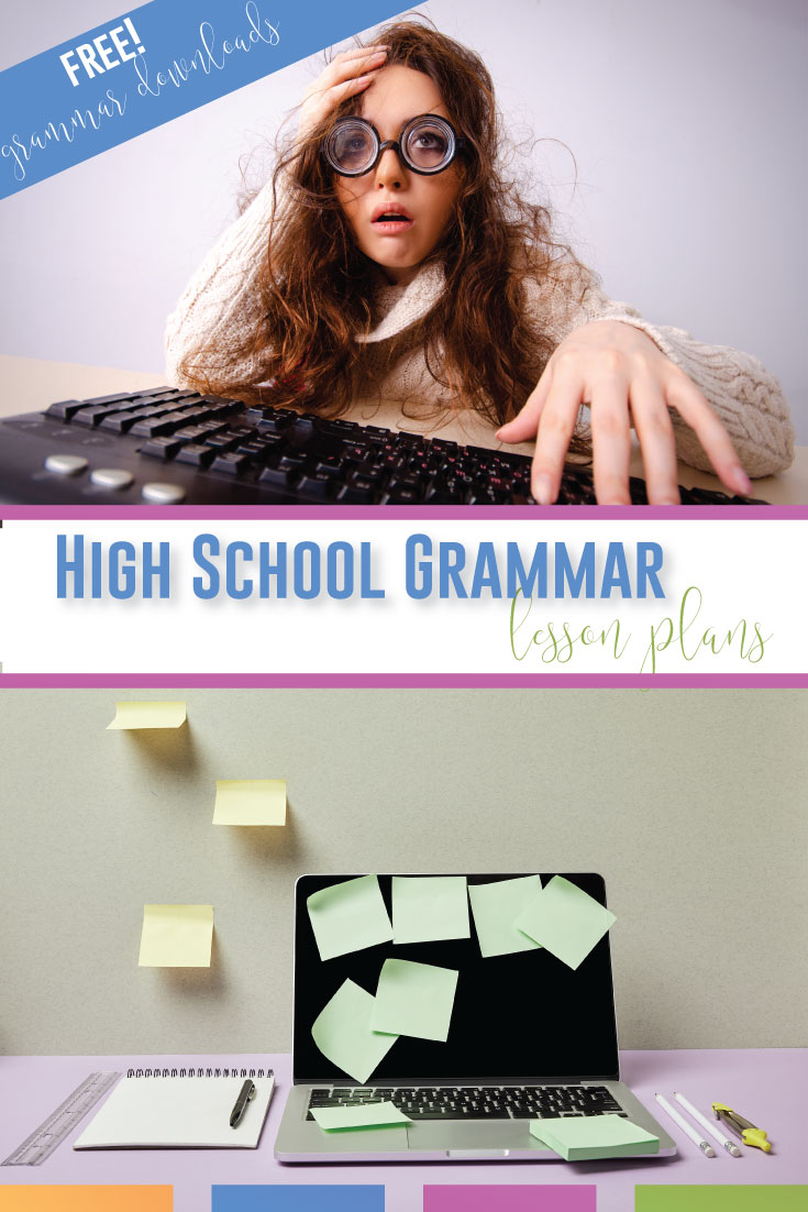 Looking for grammar lessons for high school English classes? Grammar for high school must connect grammar to writing and engage secondary students. Teach high school grammar in context and make high school grammar lessons meaningful. Download free grammar lessons for ninth grade language arts classes. Grammar lessons for high school students include parallelism, choosing the correct word, and correcting modifier mishaps. Add these grammar lessons to high school ELA classes.