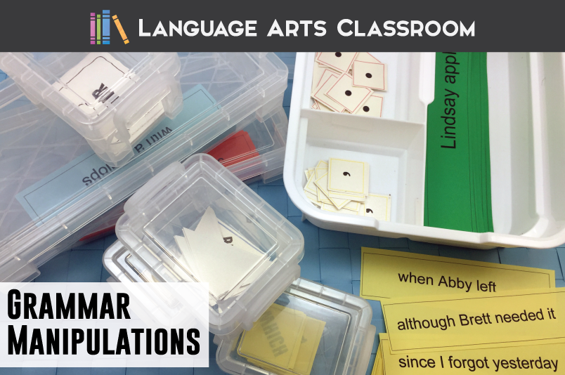 Grammar Manipulations: let students physically maneuver their language! These interactive grammar pieces will have students punctuating and understanding grammar in a new way.