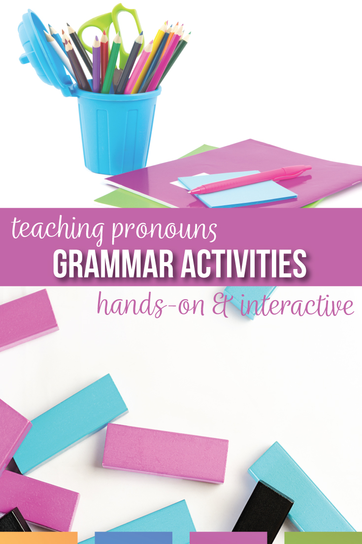 Looking for pronoun worksheets and alternatives for teaching pronouns? Pronoun activities should connect grammar to literature & student writing.  Pronoun worksheets can clarify confusing grammar elements. A pronoun worksheet will help with demonstrative pronouns, personal pronouns, relative pronouns, & pronoun types. A clear pronoun lesson plan will help with middle school English lesson plans. Teaching pronouns as part of the eight parts of speech activities for sixth grade middle school ELA.