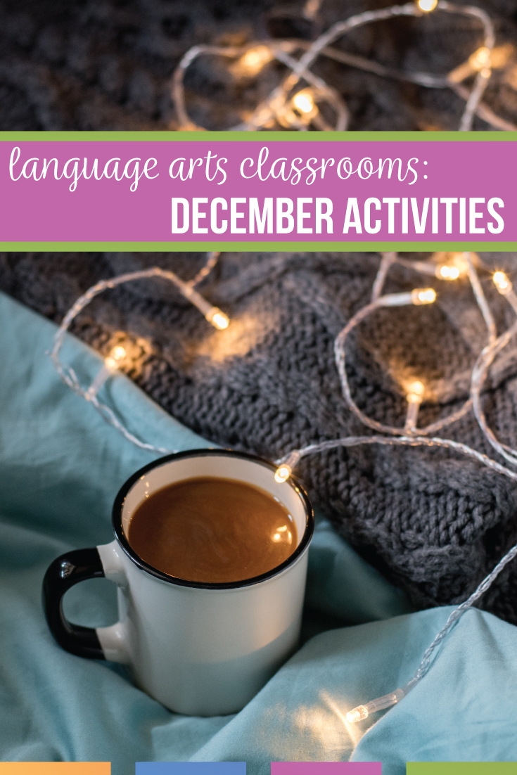 December lesson plans can engage students at the end of the semester. Language arts winter activities provide structure & fun for middle school language arts classes. Language arts December activities engage middle school English classes with coloring grammar worksheets, middle school writing activities, & media literarcy. Here are ten December lesson plans that will provide structure and get everyone through the busy winter season.