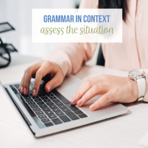 Teaching <strong>grammar in context</strong> is possible with purposeful <strong>grammar in context</strong> activities.