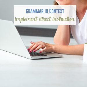 Direct instruction with grammar can be part of teaching grammar in context.