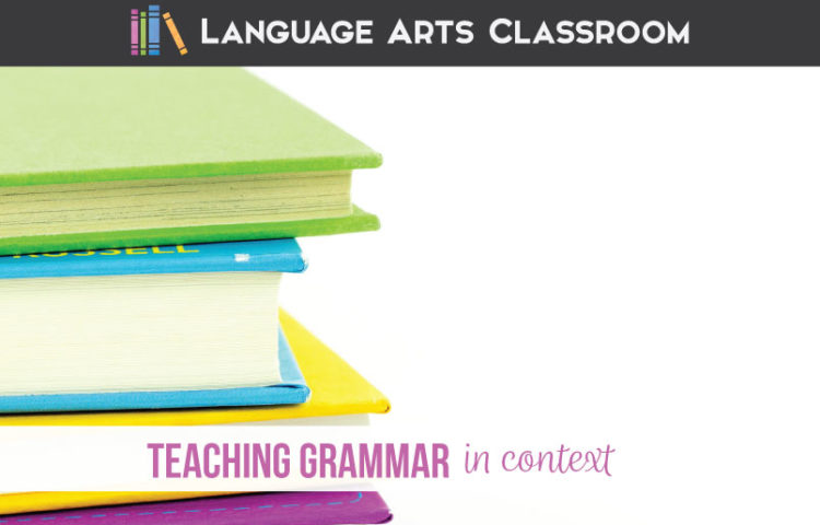 What is teaching grammar in context? Teaching grammar in context is brining in other parts of ELA class to grammar lessons. Grammar in context can help students achieve success with language.