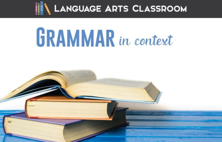 Teaching grammar in context can mean connecting grammar to writing, but it can also mean more.