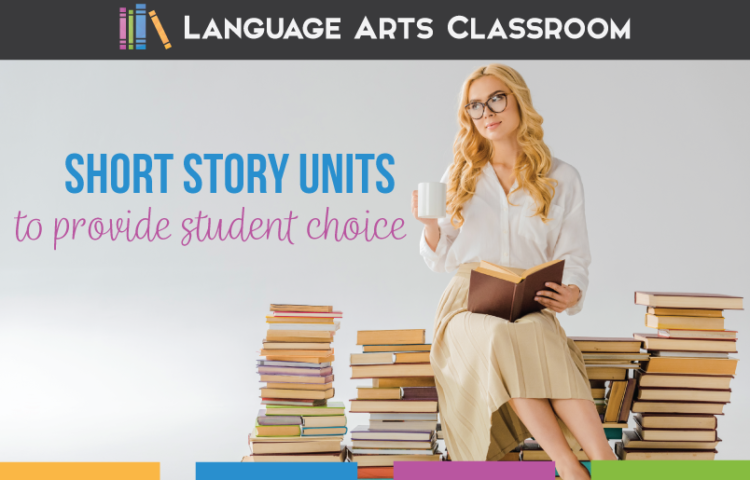 Short story unit high school meet language and literature standards. Short stories unit provides student choice. Short stories for secondary students build classroom community. Short stories unit plan will engage high school students.