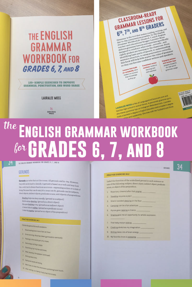 The English Grammar Workbook for Grades 6, 7, and 8: the perfect addition to any ELA classroom.