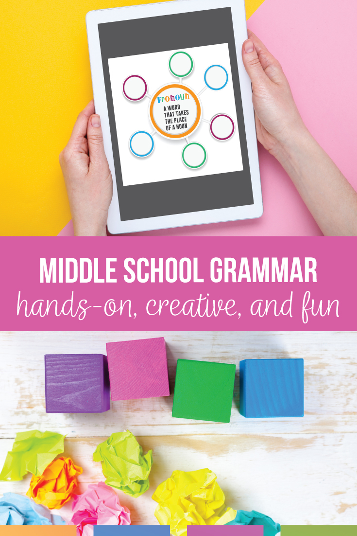Middle school grammar can engage English students & meet standards for English grammar for middle school. Download free grammar lessons for middle school & a guide for teaching grammar in middle school. Add a grammar book for middle school & grammar exercises for middle school to your language arts classes. Move beyond basic understanding of language by connecting grammar to writinbg & language to students' lives.