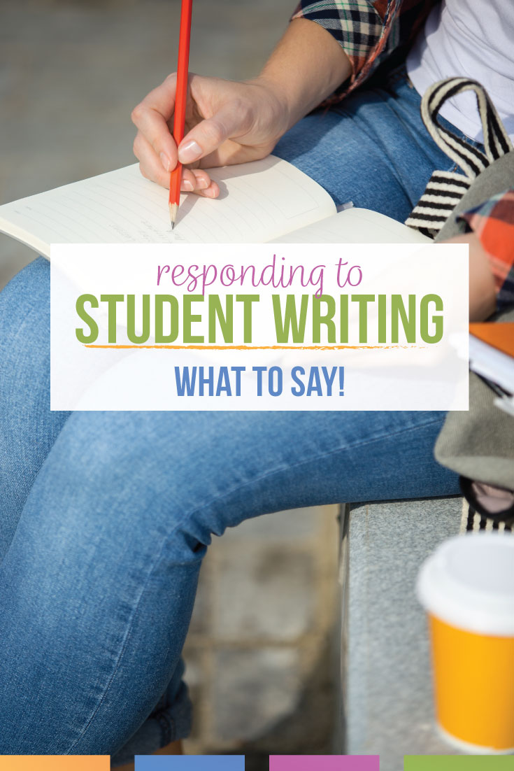 English teachers spend lots of time responding to student writing. What comments for student writing will inspire students & help them develop as writers? Feedback for student writing takes language arts teachers time, & a writing checklist can start ELA teachers to responding to student writing. Help student essays with constructive writing feedback.