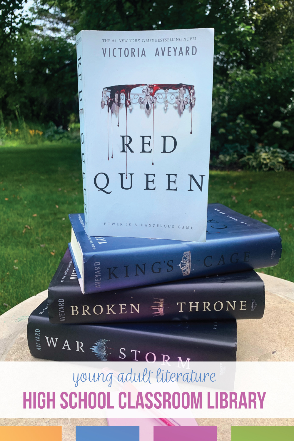 Teaching Red Queen provides plenty of learning opportunities. In this dystopian young adult literature, high school ELA teacher offers advice and ideas for teaching Red Queen.