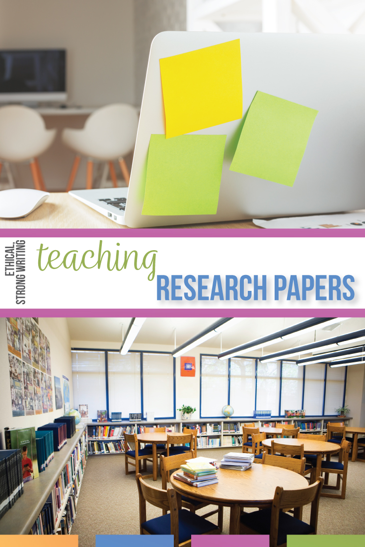 Teaching research papers with high school students requires teaching ethical research. Teaching students how to write a research paper includes following the writing process, organizing student essays, & connecting gramamr to writing. Conferencing with students makes teaching research papers easier. This process of how to teach research to high school students walks through research paper lesson plans. Teaching the research paper in high school English classes meets writing standards.