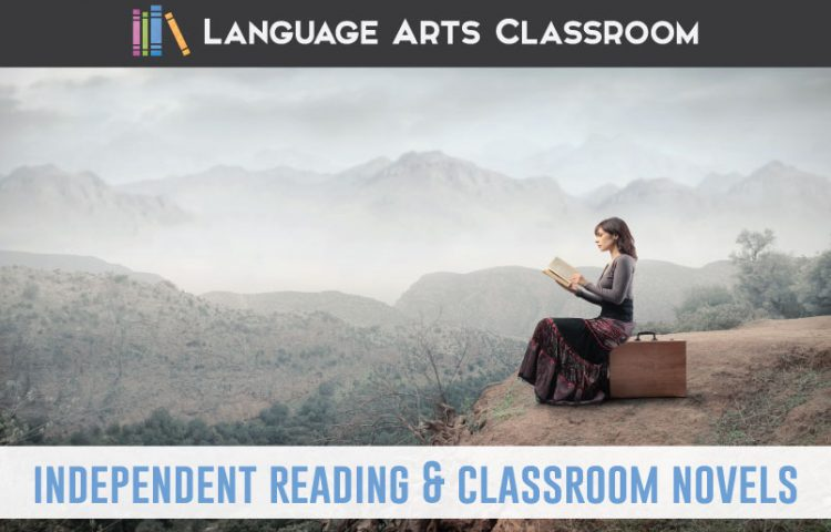 Independent reading vs. classroom novels: how do you handle both concepts? Read this post for practical ideas to cover both in your secondary ELA classroom. #HighSchoolELA #IndependentReading