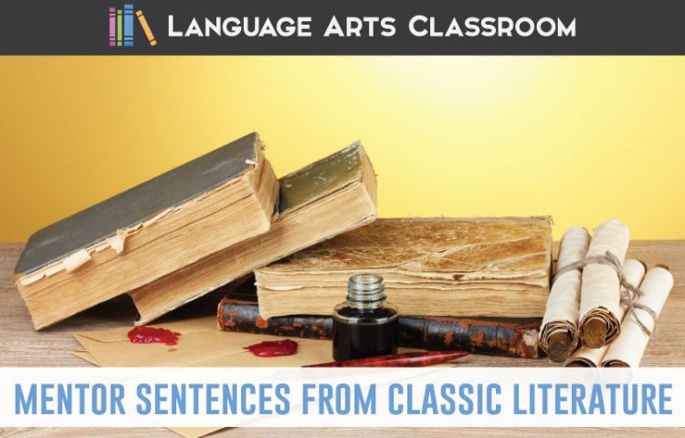 Pull mentor sentences from literature to study grammar and punctuation? Sure! Try these famous pieces to add to your secondary ELA classroom. #MentorSentences #GrammarLessons