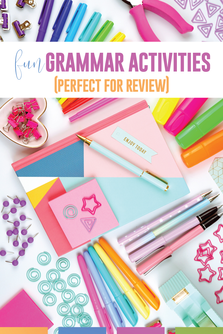 Language arts teacher, looking for fun grammar activities? You can create these grammar activities that are perfect for grammar review. Use digital grammar lessons and interactive lessons for middle school language arts classrooms and high school language arts classrooms. Meet language standards while teaching grammar in context. Connect grammar to writing with these grammar activities to engage secondary writers.