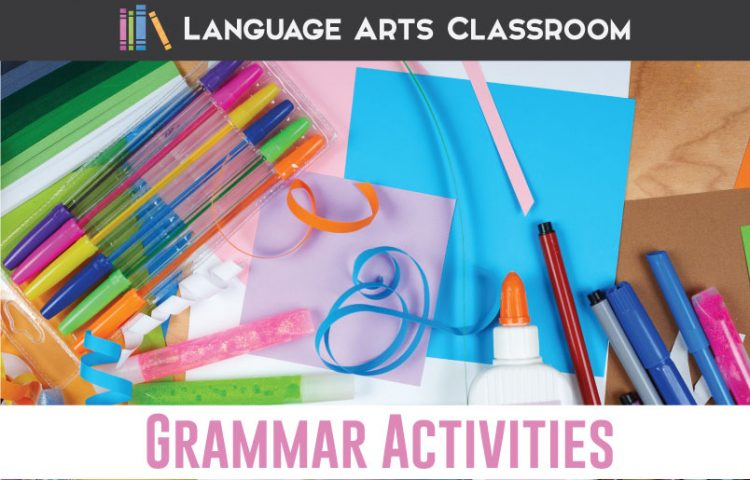 Get out the scissors and glue! These grammar activities are free and hands-on. Getting playing with language. #GrammarLessons