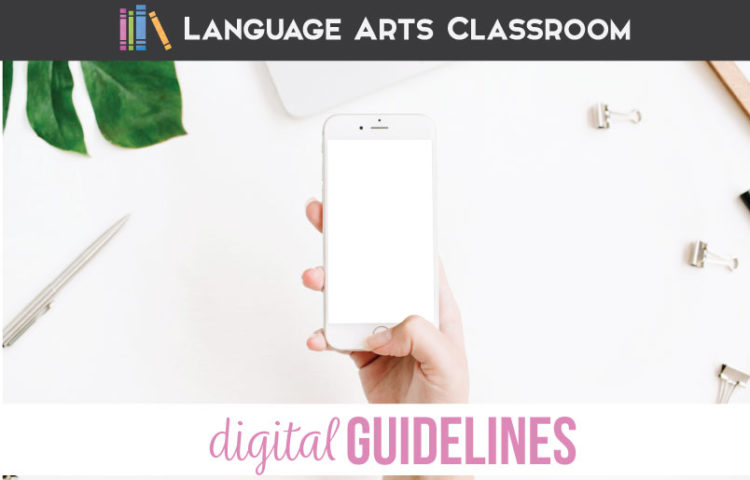 Classroom guidelines can and should include digital guidelines. Digital guidelines for the secondary classroom will ensure that students understand your expectations with games, air drop, & emails. Parents appreciate knowing your classroom procedures and guidelines so they have fewer questions concerning your classroom management.