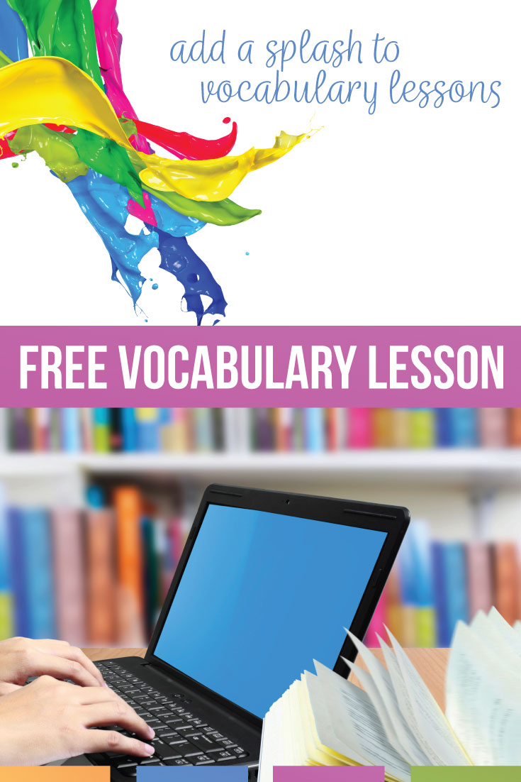 Download a free vocabulary and grammar lesson with ten vocabulary words. Vocabulary lessons can provide a variety & branch off a grammar word wall. Vocab lesson ideas should encourage students to manipulate vocabulary words in a brain-based learning manner. Vocabulary word activities can work with literature & writing lessons for middle school languge arts classes & high school language arts classes.