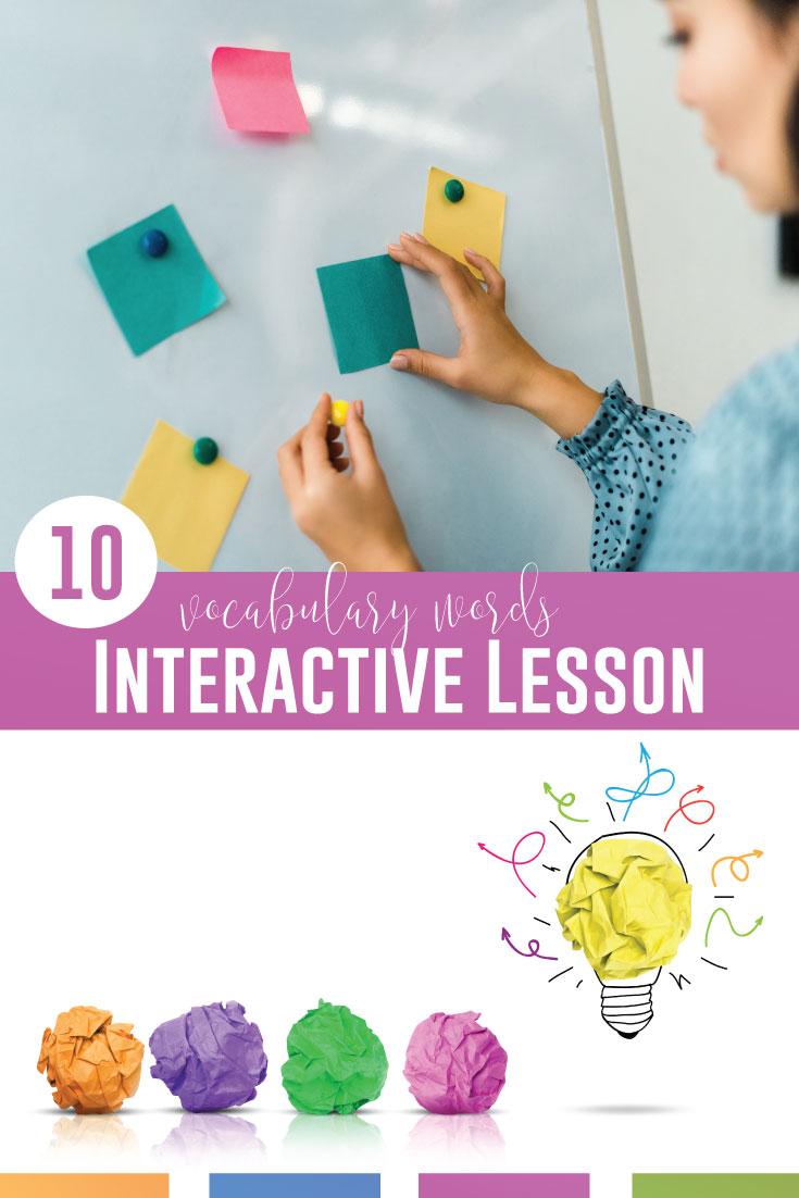 What vocabulary lesson will you teach today? Engage stuents with vocabulary words activities and a grammar word wall. Vocabulary and grammar in context can help students with their writing!
