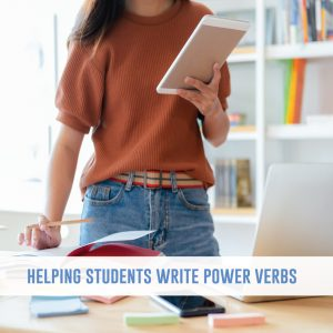 Help students to find power verbs for their writing assignments. These methods for working on vocabulary help young writers. #WritingLessons #WritingActivities