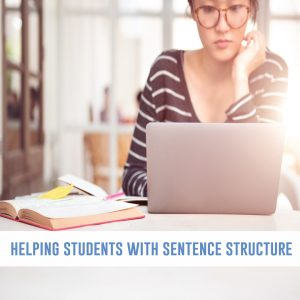 Sentence structure lessons are important grammar to writing connections in the writing process.
