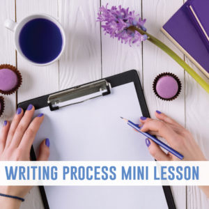 Writing process mini lessons establish community with secondary writing students. Mini lessons for writing engage high school writers.