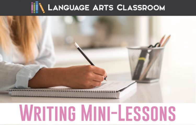 With powerful writing mini lessons, you can focus on what students need. Students will have personalized writing lessons, and you will have easier grading. #WritingLessons