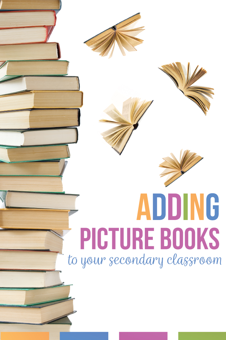 Picture books for high school students will engage reluctant readers. This post contains picture books for high school that students wil read. Use picture books in the classroom as connections to literature, as inspiration to creative writing pieces, and as lessons for literary analysis. Picture books for high school students belong in your secondary classroom ibrary. Ask students to write book reviews or to analyze characters with children's books.