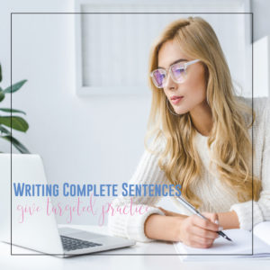 Teaching complete sentences requires connecting grammar to writing. English teachers: provide targeted practice for grammar errors.