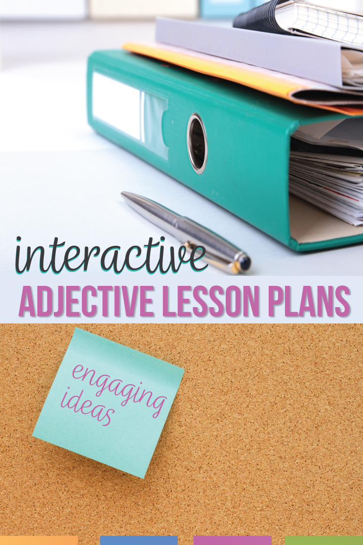Activities for adjectives can engage middle school ELA classes. Teaching adjectives lays the foundation of language & connects grammar to writing. Teach coordinate adjectives with engaging adjective activities. Activities on adjectives include writing, labeling & one pagers. A grammar one pager livens activities about adjectives. Teach fourth grade grammar, fifth grade grammar, & sixth grade grammar with a lesson plan for adjectives. Includes free grammar download for teaching adjectives in ELA.