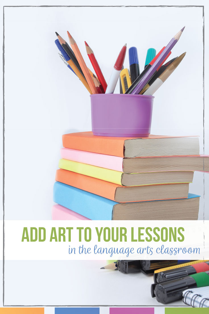 Art in English Class can engage reluctant language arts students. English class art can build classroom community.