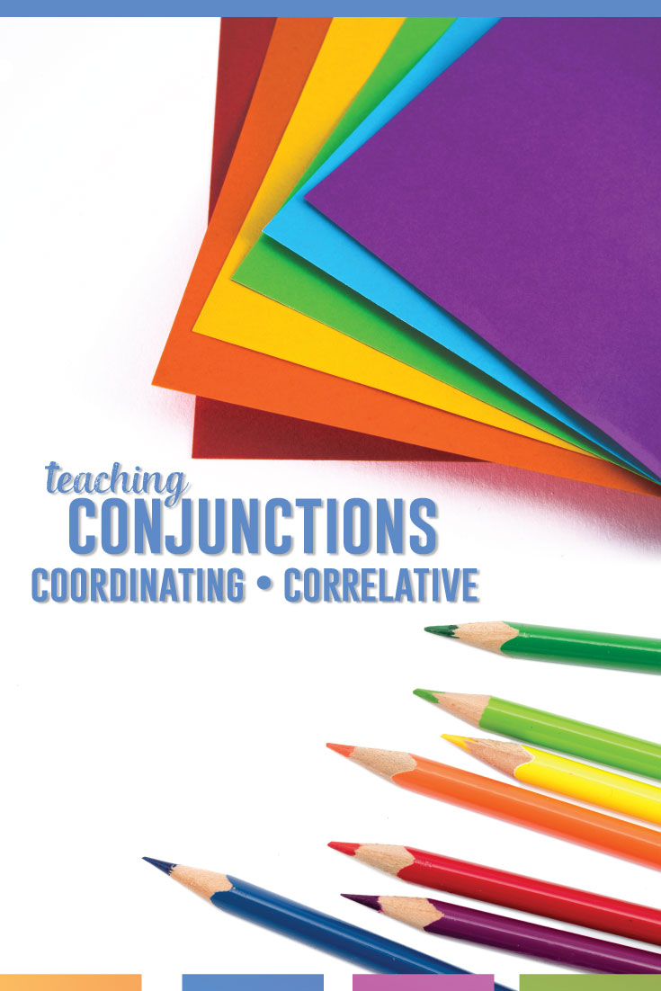 Conjunctions lesson plans can be interactive and hands-on. Teaching conjunctions requires a few decisions and lots of scaffolded activities. #GrammarLessons #EightPartsofSpeech