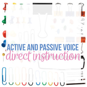 Add a lesson plan on active and passive voice to your ELA lesson plans. A passive voice lesson plan connects grammar to writing.