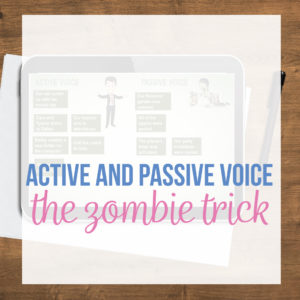 An active and passive voice lesson plan engages secondary ELA students. Add passive voice activities.