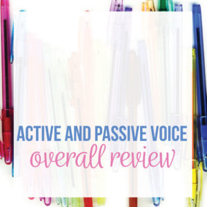 Passive and active voice activities engage language arts students. Add meaningful passive voice lessons to English class to connect grammar to writing.