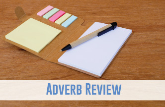 Review adverbs with a variety of grammar activities.