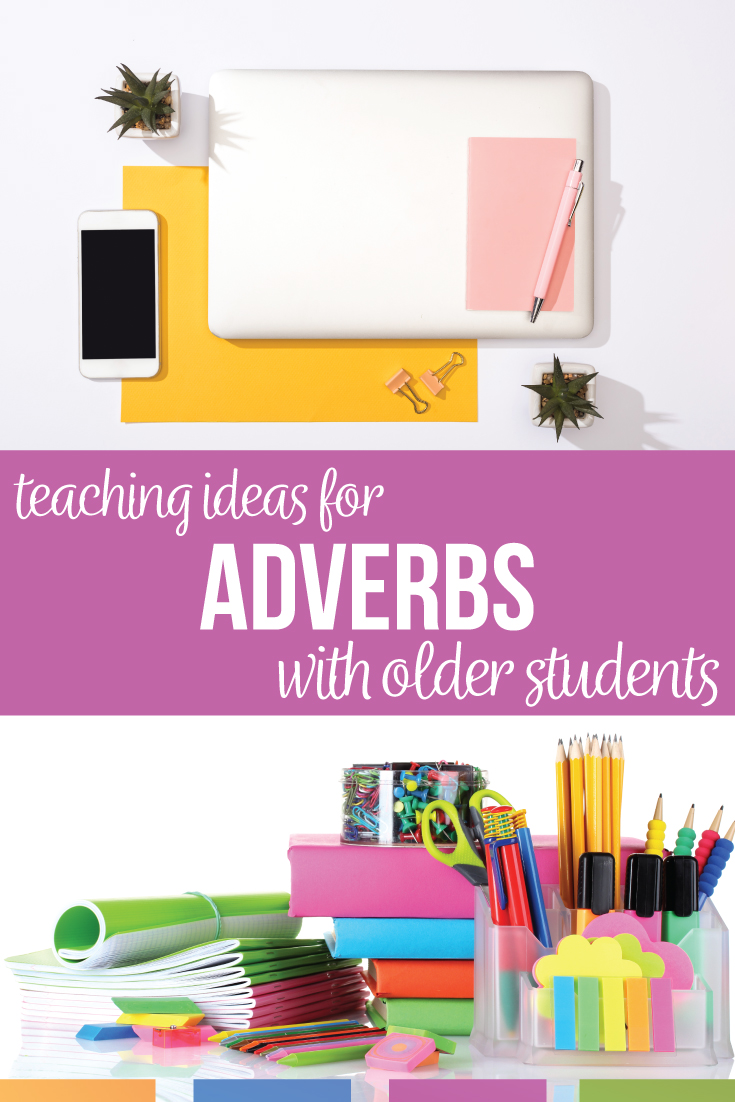 Adverbs lesson plan: engage middle school language arts classes. An adverb lesson plan should connect grammar to writing & empower middle school students. Grammar activities: grammar sorts, grammar stations, grammar one pagers. A lesson plan on adverbs includes various practice opportunities for sixth grade language arts: middle school English grammar includes adverb activities. A lesson plan for adverbs will be more than an adverb lesson; it will connect grammar to the rest of students lives. Use an adverb worksheet to provide a starting point for grammar lessons.