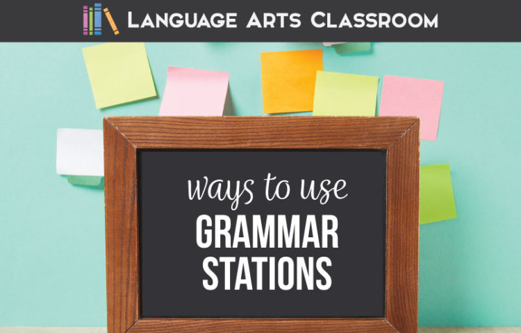 Grammar stations are perfect for secondary students. Fifteen grammar stations are outlined. Middle school grammar lessons can include a grammar station rotation system.