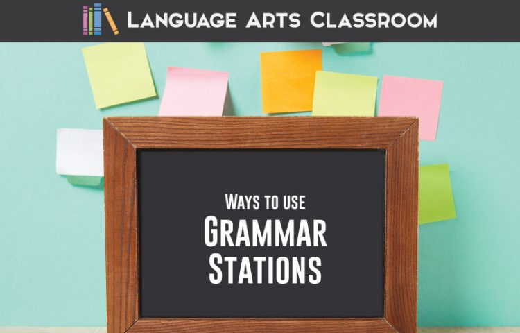 Grammar stations are perfect for secondary students. Fifteen grammar stations are outlined. #GrammarLessons #GrammarStations