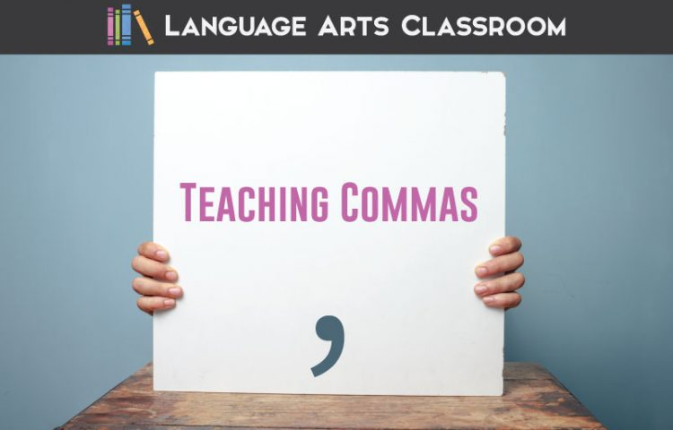 Teaching commas with older students can seem overwhelming. Add these tips to your grammar activities, and watch students understand this punctuation piece. #GrammarLessons #GrammarActivities
