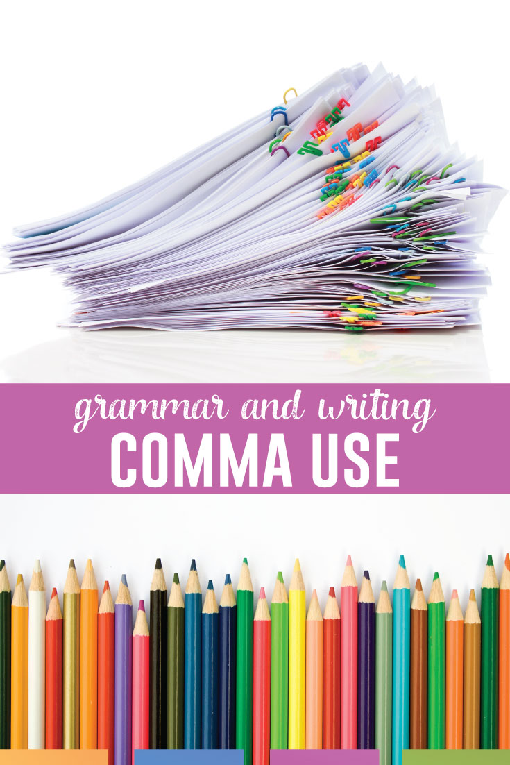 Students can connect grammar and writing with these ten common grammar rules. Use various activities to incorporate comma rules in student writing. #GrammarLessons #WritingLessons