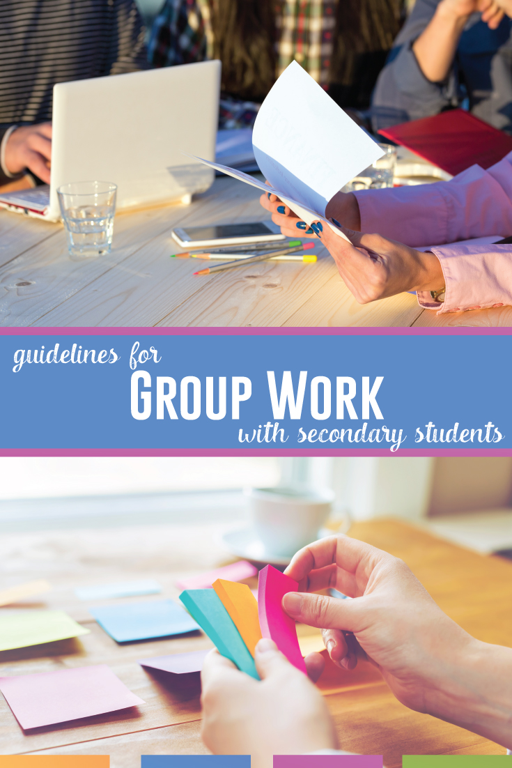 Group work in the secondary classroom can greatly benefit students. To make the most of this collaborative time, plan your time wisely. #MiddleSchoolELA #HighSchoolELA #ClassroomManagement