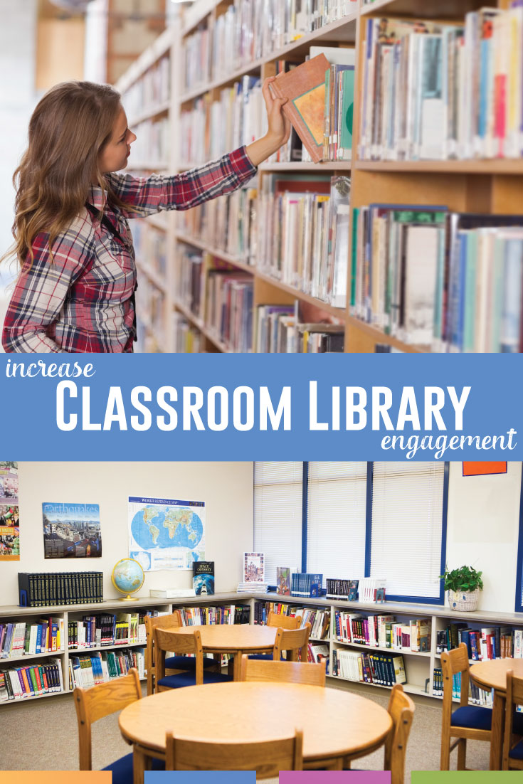 Increase classroom library engagement with these five tips. Get students checking out your books, recommending new ones, and taking ownership. #SecondaryELA #ClassroomLibrary