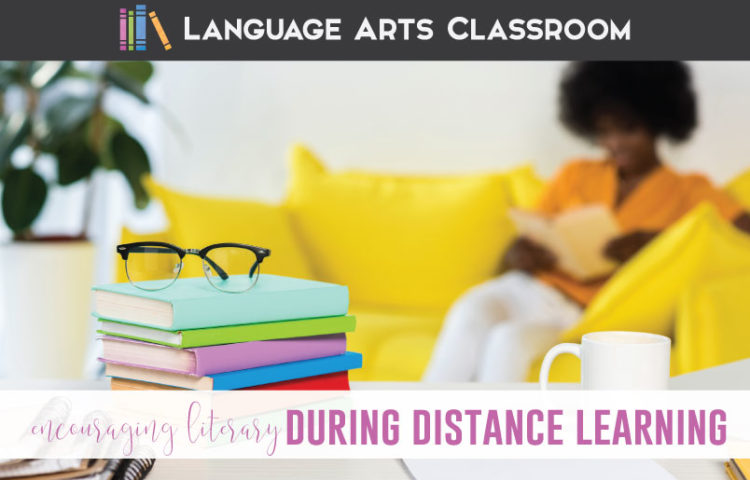 Encouraging literacy distance learning might take experimentation. Distance learning literacy is possible! Add digital one pagers and encourage literacy with older students during distance learning.
