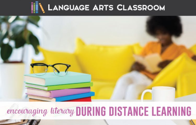 Encouraging literacy during distance learning can be achieved with a few well-placed and positive actions from teachers to students. #DistanceLearning #DigitalLearning