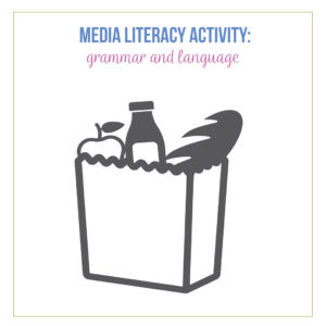 Fun media literacy activities should cover language.