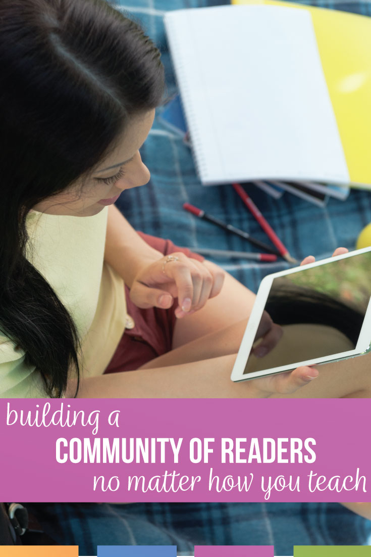 Building a community of readers can happen in the classroom or online. Building a community of readers  can be fun and help classroom management.