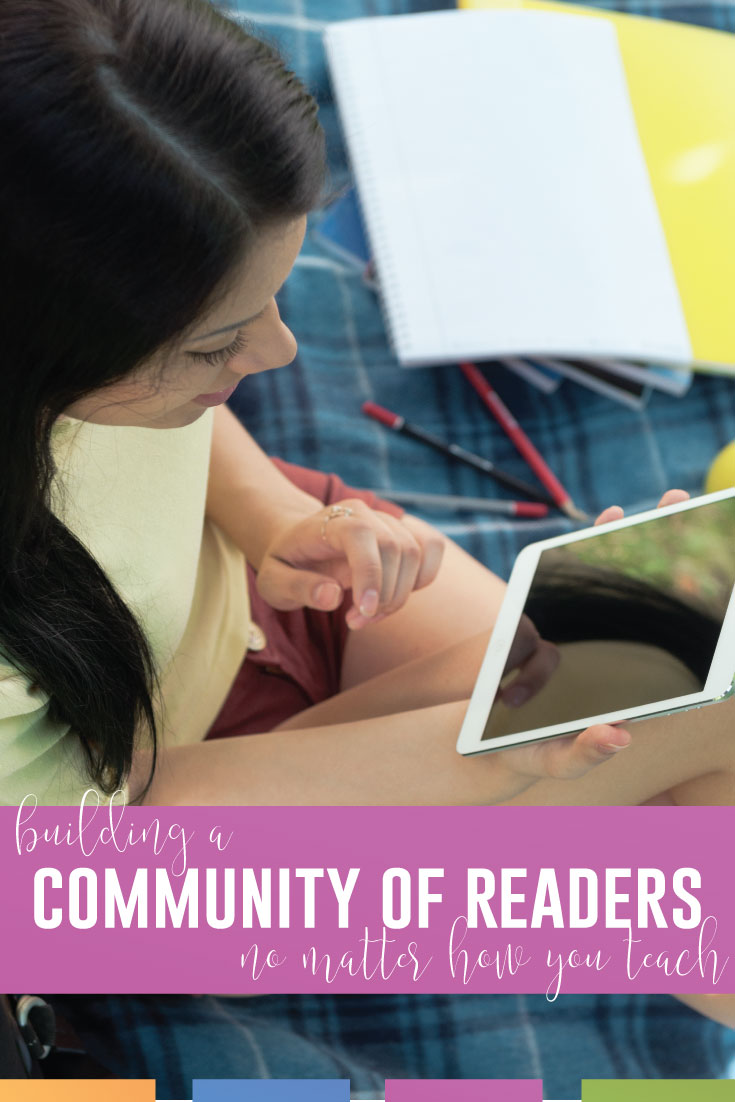 Building a community of readers can happen in the classroom or online.