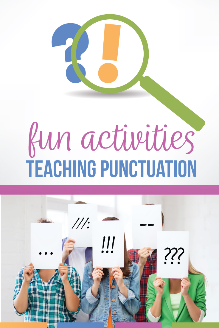 Teaching punctuation is a great way to connect grammar to writing in middle school language arts classes. Teaching punctuation & mechanics can improve student essays, particularly with tricky punctuation lessons. Teaching semicolons as an important part of punctuation lessons encourages creative writing. Use pictures for how to teach punctuation & make lessons on punctuation impactful. Teaching punctuation helps young writers.