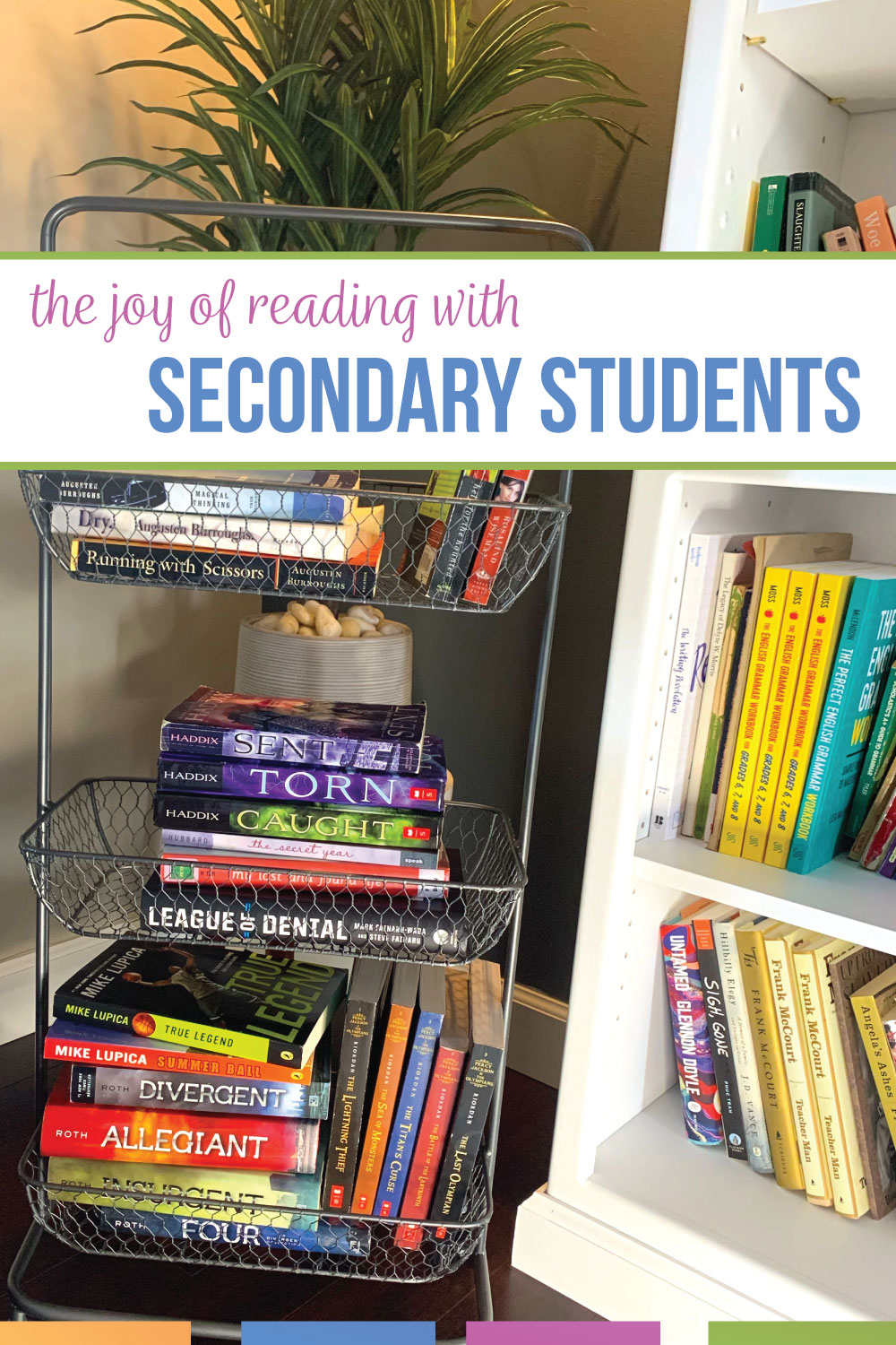 To spread the joy of reading with secondary students, I want students to understand that literature is alive. These ideas to enage students in your classroom library will show literacy is important. With a few small and inexpensive tricks, I engage secondary students in my classroom library. High school ELA students should build reading stamina and discover the joy of reading.