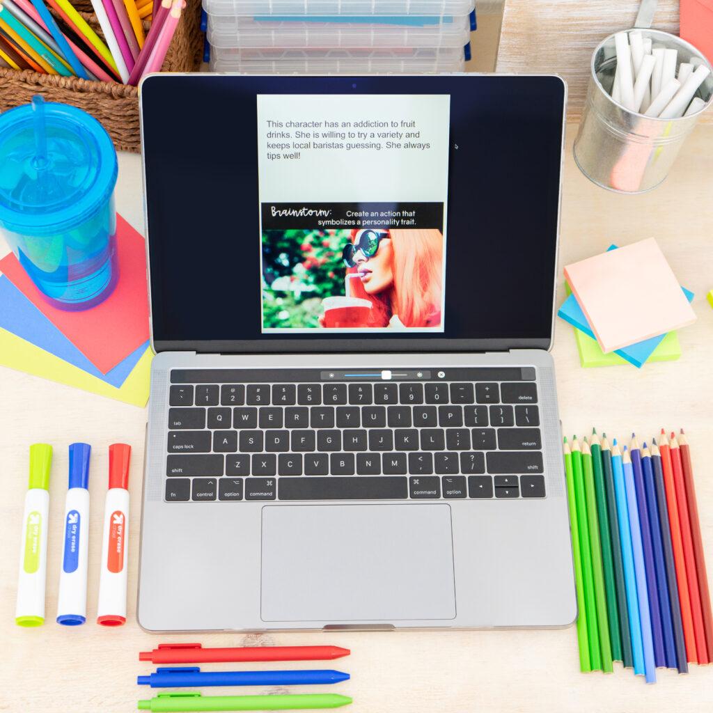 High school creative writing activity